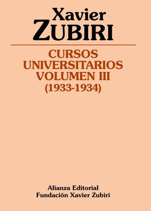CURSOS UNIVERSITARIOS. VOLUMEN III (1933-1934)