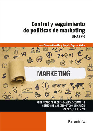 CONTROL Y SEGUIMIENTO DE POLÍTICAS DE MARKETING