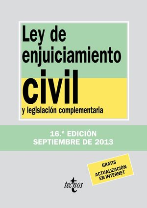 LEY DE ENJUICIAMIENTO CIVIL SEPT 2013