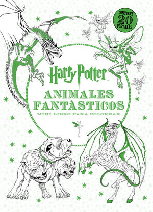 HARRY POTTER-ANIMALES FANTÁSTICOS MINI LIBRO PARA COLOREAR