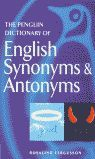 PENGUIN DICTIONARY OF ENGLISH SYNONYMS AND ANTONYMS