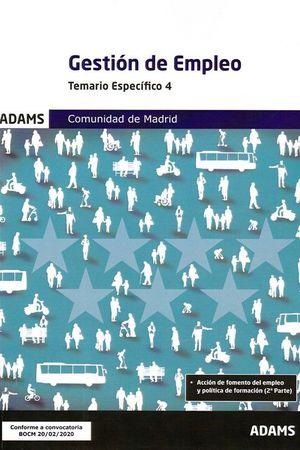 GESTION DE EMPLEO - TEMARIO ESPECIFICO 4