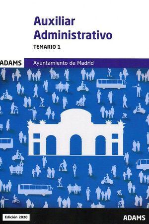 TEMARIO 1 AUXILIARES ADMINISTRATIVOS AYUNTAMIENTO DE MADRID
