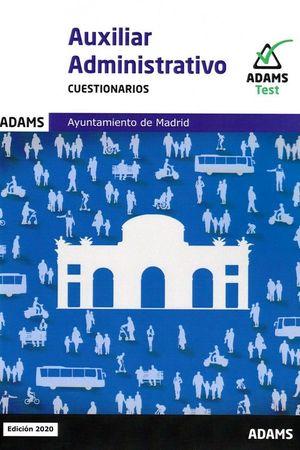 CUESTIONARIOS AUXILIARES ADMINISTRATIVOS AYUNTAMIENTO DE MADRID