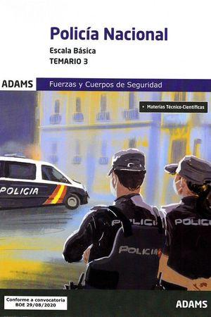 TEMARIO 3 POLICÍA NACIONAL ESCALA BÁSICA