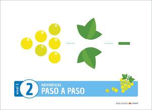 (20) 3 AÑOS PROYECTO PASO A PASO - NIVEL 1. CUADERNO 2 EDELVIVES