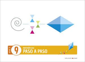 (20) 5 AÑOS PROYECTO PASO A PASO - NIVEL 3. CUADERNO 9 EDELVIVES