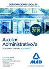 AUXILIAR ADMINISTRATIVO DE CORPORACIONES LOCALES. TEMARIO GENERAL VOLUMEN 2