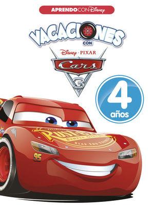 VACACIONES CON CARS. 4 AÑOS (APRENDO CON DISNEY)