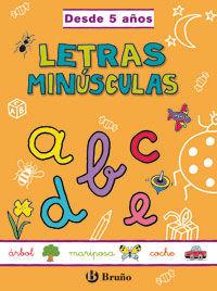 Letras minúsculas, Educación Infantil