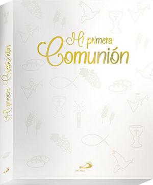 MI PRIMERA COMUNIÓN - ESTUCHE ATERCIOPELADO CON LA BIBLIA + LIBRO DE FIRMAS
