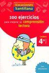 100 ejercicios para mejorar la comprensión lectora 4º Primaria - Santillana
