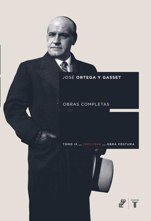 ORTEGA Y GASSET OBRAS COMPLETAS TOMO IX