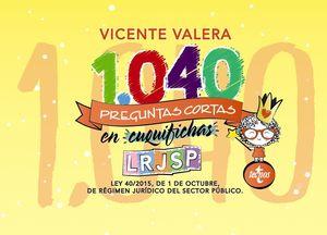 1040 PREGUNTAS CORTAS EN «CUQUIFICHAS» LRJSP