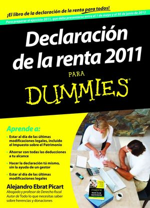 DECLARACION DE LA RENTA PARA DUMMIES 2012