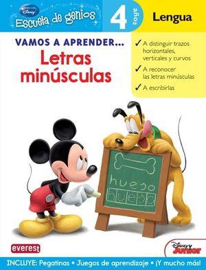 LETRAS MINUSCULAS - 4 AÑOS LENGUA