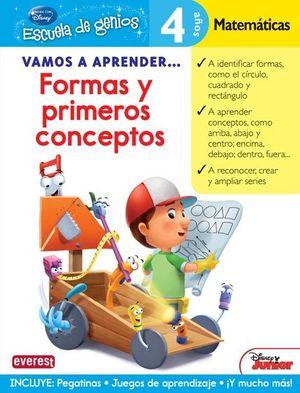 FORMAS Y PRIMEROS CONCEPTOS - 4 AÑOS MATEMÁTICAS