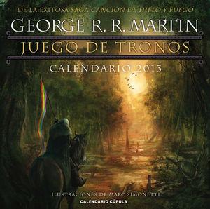 CALENDARIO JUEGO DE TRONOS 2013