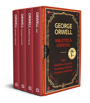 BIBLIOTECA ESENCIAL GEORGE ORWELL (1984  REBELIÓN EN LA GRANJA  HOMENAJE A CAT
