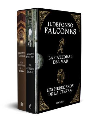 ILDEFONSO FALCONES (EDICIÓN ESTUCHE CON: LA CATEDRAL DEL MAR  LOS HEREDEROS DE