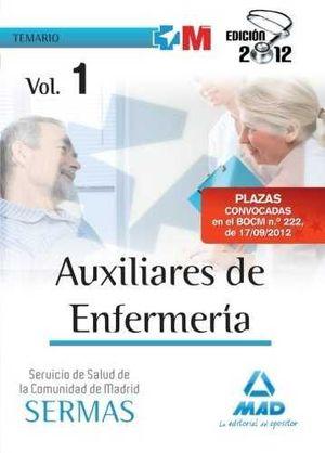 TEMARIO I AUXILIARES ENFERMERIA SERVICIO SALUD COMUNIDAD MADRID. SERMAS