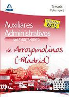 AUXILIARES ADMINISTRATIVOS DEL AYUNTAMIENTO DE ARROYOMOLINOS (MADRID). TEMARIO.