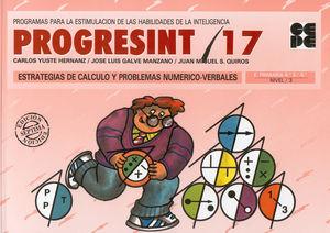 PROGRESINT 17 Estrategias de Cálculo y Problemas Numérico-Verbales
