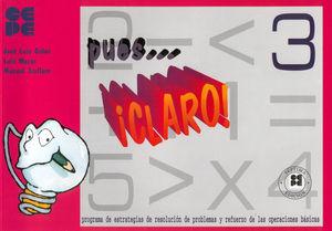PUES CLARO. 3