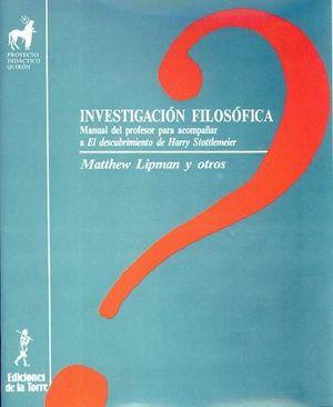 INVESTIGACIÓN FILOSÓFICA
