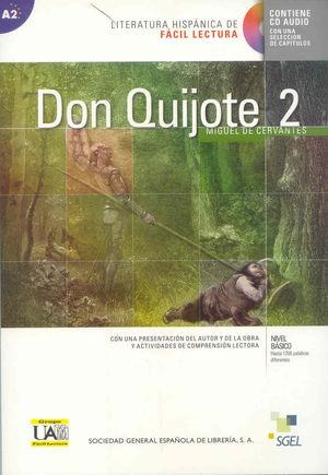 DON QUIJOTE 2 Fácil lectura - Nivel Básico (A1) con CD