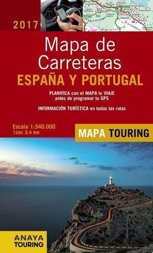 MAPA DE CARRETERAS DE ESPAÑA Y PORTUGAL 1:340.000, 2017