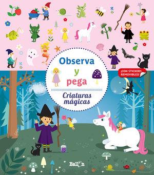 CRIATURAS MAGICAS OBSERVA Y PEGA