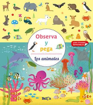 LOS ANIMALES OBSERVA Y PEGA