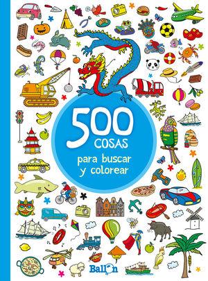500 COSAS PARA BUSCAR Y COLOREAR-AZUL
